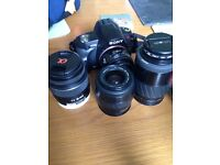 Sony A230 DSLR, Lenses & Accessories