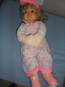 23 inches tall soft vintage doll