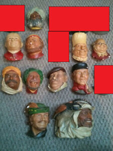 Bossons / Legend Products Chalkware Heads