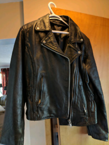 Womens sculpted motorcycle jacket