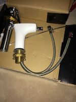 Hansgrohe white single lever bathroom faucet