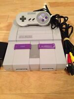Super Nintendo and Super Mario World game