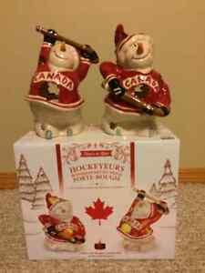 Hockey Snowmen Tealight Holders Strathcona County Edmonton Area image 1
