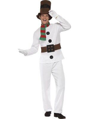 Schneemann Kostüm Herren Schnee Polar Winter - Weiße Schnee Kostüm