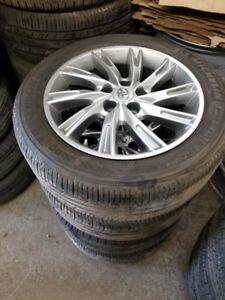 215 55 17 winters on Lexus ES Toyota Camry alloys 5x114.3