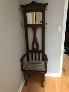 Moving sale: Furniture, Piano, Couch, Bookcases, Hall Tree, more