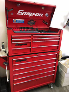 Snap on box and assorted tools