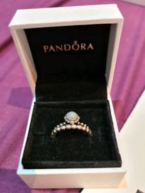 Pandora March birthstone ring