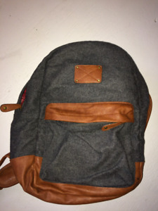 Felt/ Faux Leather Backpack