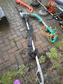 Various garden equipment mower, strimmers, hedge cutters