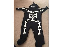 Halloween baby grow 3-6 mths and Santa suit 6-9 months