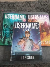 Bundle of Joe Sugg books. One a signed copy. Username Evie series