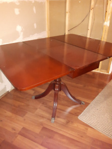 Cherry wood drop leaf table