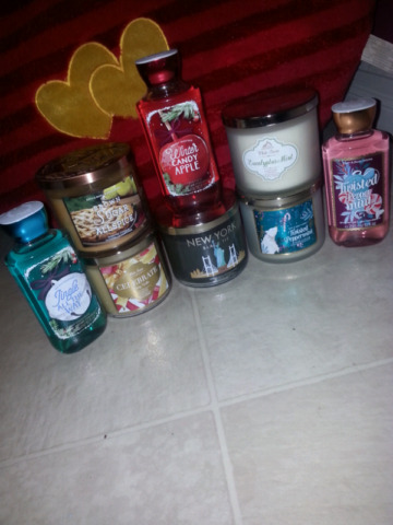 Bath and Body Works Candles and Bodywash