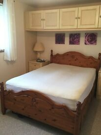 Pine bed double (4ft 6in) mattress not included