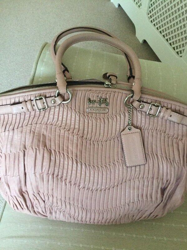 Coach pale pink leather handbag as new  0f75074c4f367
