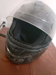 SOLD Motorcycle Helmet with design