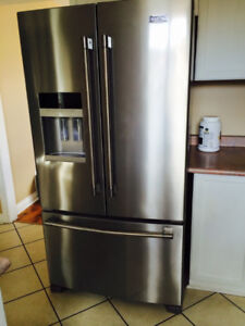 GENTLY USED 1 YEAR OLD MAYTAG STAINLESS FRIDGE - REDUCED PRICE