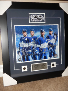Custom & Professionally Framed Toronto Maple Leafs Signed Photos