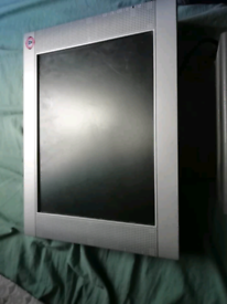 Retro broken flat led computer monitor