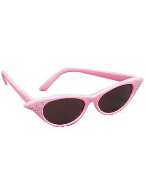 Pink Sunglasses Fancy Dress Shades 50s Dark Lens Glasses Dame Edna Womans - Dame Edna Kostüm