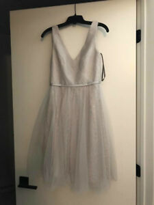 LIGHT GREY VERA WANG DRESS IN PERFECT CONDITION