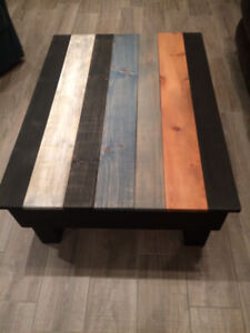 Unique Solid Pine Coffee Table, Brand New
