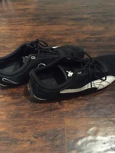 Black Suede Puma Shoes (Size 10.5)