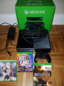 XBOX One 500gb w Kinect and 3 games Trade for PS4 or $270 Cash