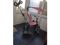 Reduced *****Immaculate pink smart trike