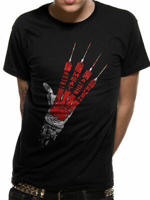 Quotes On Halloween (Official Nightmare On Elm Street Fresh Meat T-shirt Freddy Krueger Glove)