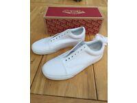Men's White Old Skool Vans shoes UK 9.5 New
