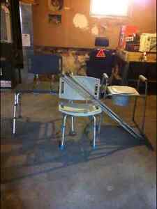 Two Bath Chairs, Crutches Peterborough Peterborough Area image 1