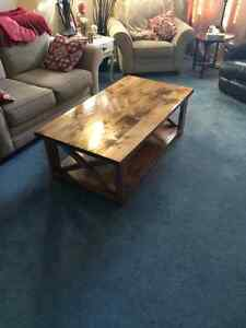 Handmade Knotty pine coffee table