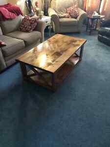 Handmade Knotty pine coffee table