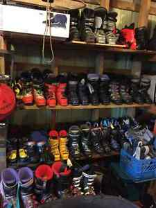 Used Downhill and x-country ski boots and skis - MANY sizes!!!