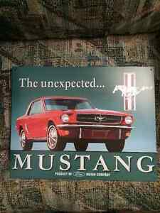 The Unexpected Mustang Tin Sign Kitchener / Waterloo Kitchener Area image 1