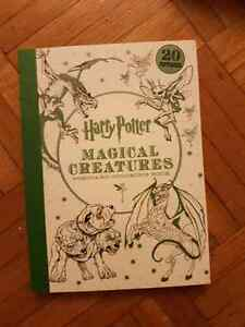 Harry Potter Magical Creatures Postcard Coloring Book (20 cards