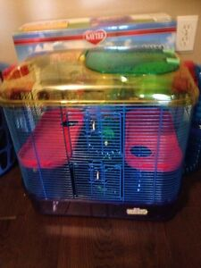 Small pet cage for hamsters, gerbils, and mice