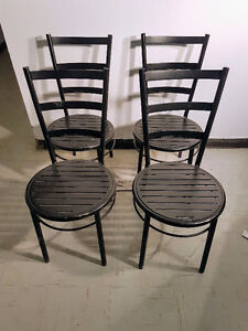 4 Metal Cafe Chairs