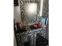 Zebra furniture and accessories