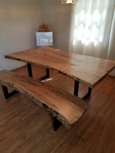 Tap Hole Maple Dining Table