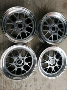Fast wheels. BBS style. 18x8....5x120...like new. Only use 3 mon