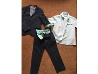 Boys Linen Mix Suit with matching shirt