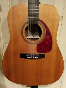 Beautiful Norman Acoustic guitar with case and built-in pickup