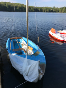 Kolibri sailboat rigging , mast, sail, jib and boom for sale