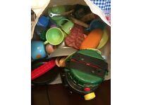 Big bag of play food and cups etc