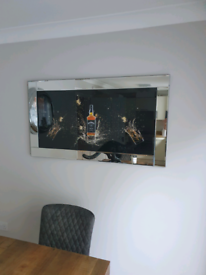 Large Jack Daniels mirror frame picture 1 week old (as new)