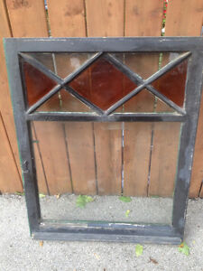 105 years Old Antique Stained Glass Window Frame Display Shabby Oakville / Halton Region Toronto (GTA) image 3