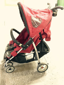 City Hauck stroller and Bily stroller (red)